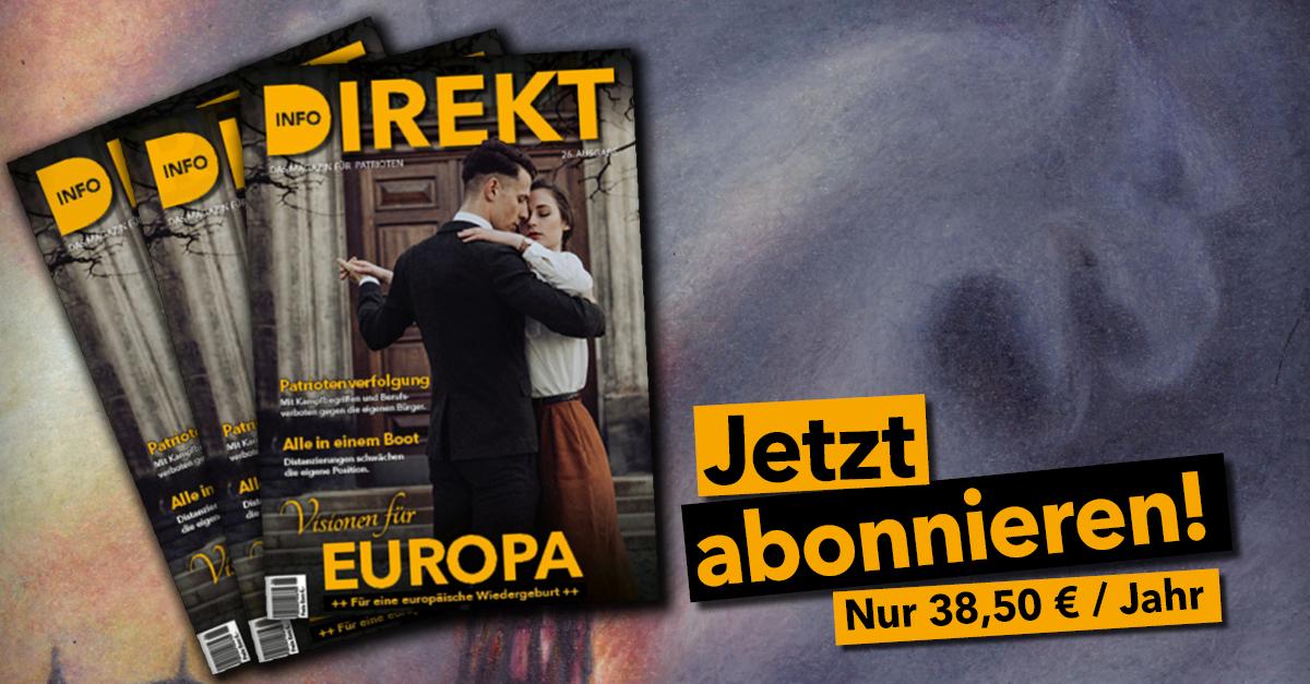 Info-DIREKT-Abo-Anzeige, Ausgabe 26: Visionen für Europa